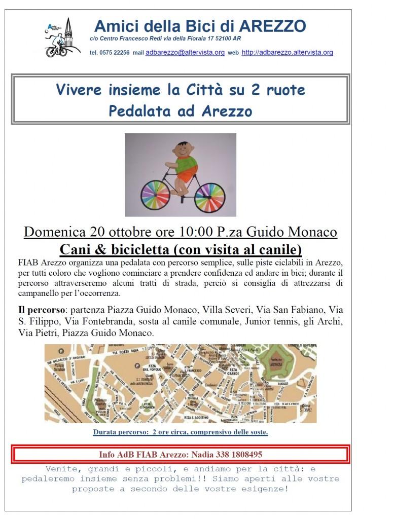 volantino pedalata in arezzo20ott13