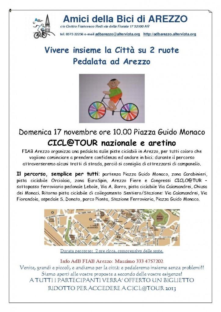 volantino pedalata in arezzo-17novembre